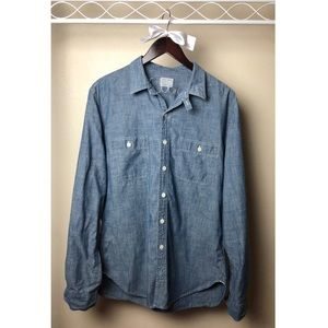 J. Crew Selvedge Japanese chambray utility shirt